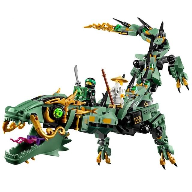 New Ninjago Set Verde Ninja Mech Drago Lloyd Wu Garmadon Charlie Compatibile Con Lego 70612 Blocchi Migliore Per I Bambini