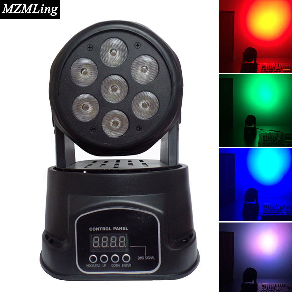 купить  Led 7*10w RGWB Washing Light DMX512 Moving Head Light Professional DJ /Bar /Party /Show /Stage Light LED Stage Machine  онлайн