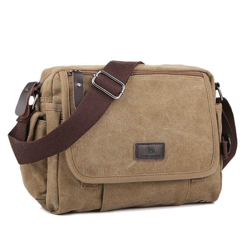 Vintage Satchel Shoulder-Bag Messenger-Handbag Crossbody-Sling Canvas Small Retro Casual