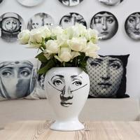 Decorative Home Decor Flower Pot European Ceramic Decorative Storage Tank for Large Hot Sealing Pot Vase Fornasetti Vase