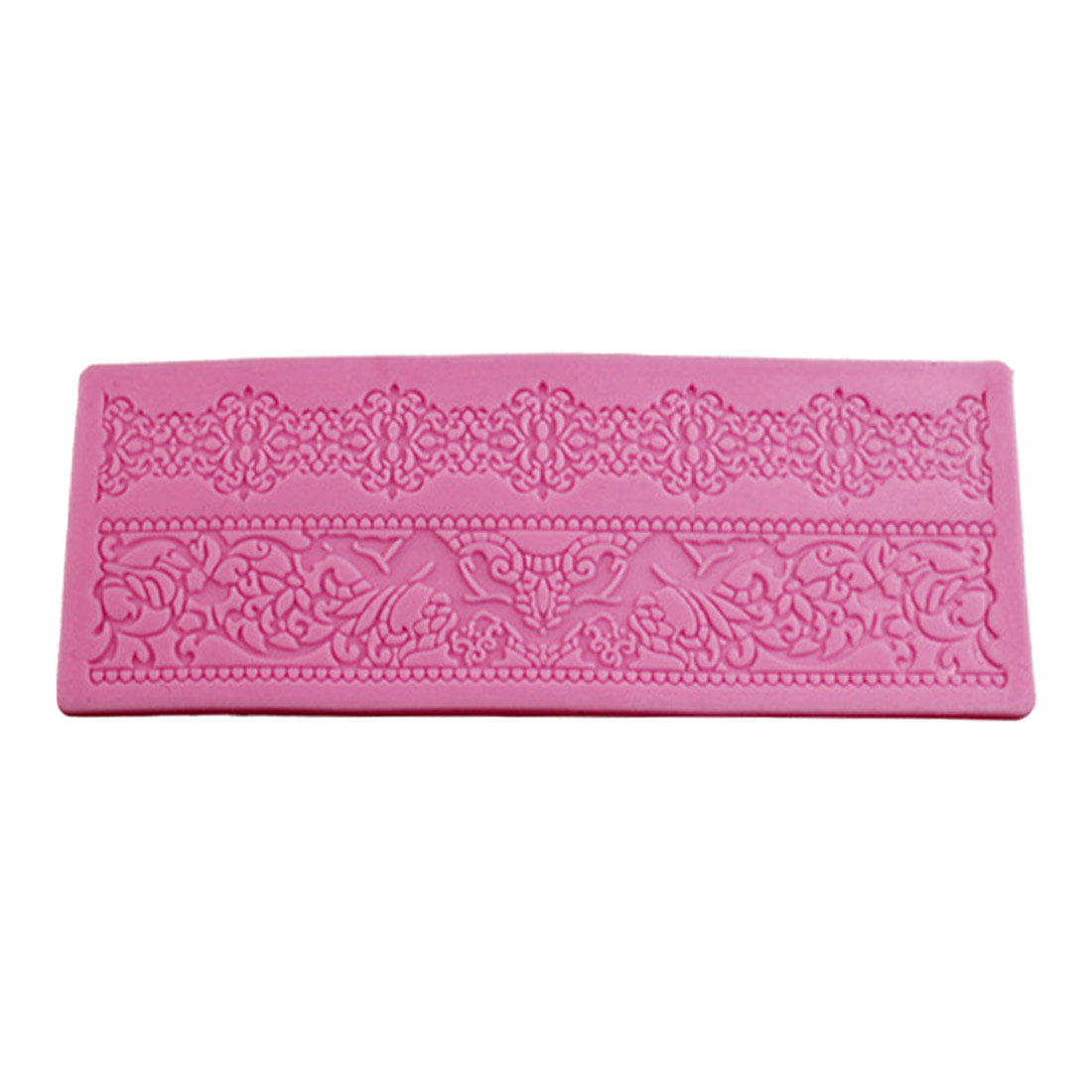 Delicious 17.5 X 6.2 X 0.4cm Cake Gum Paste Decorating Diy Mould Lace Silicone Fondant Embossing Mold Relieving Rheumatism And Cold Home & Garden Bakeware