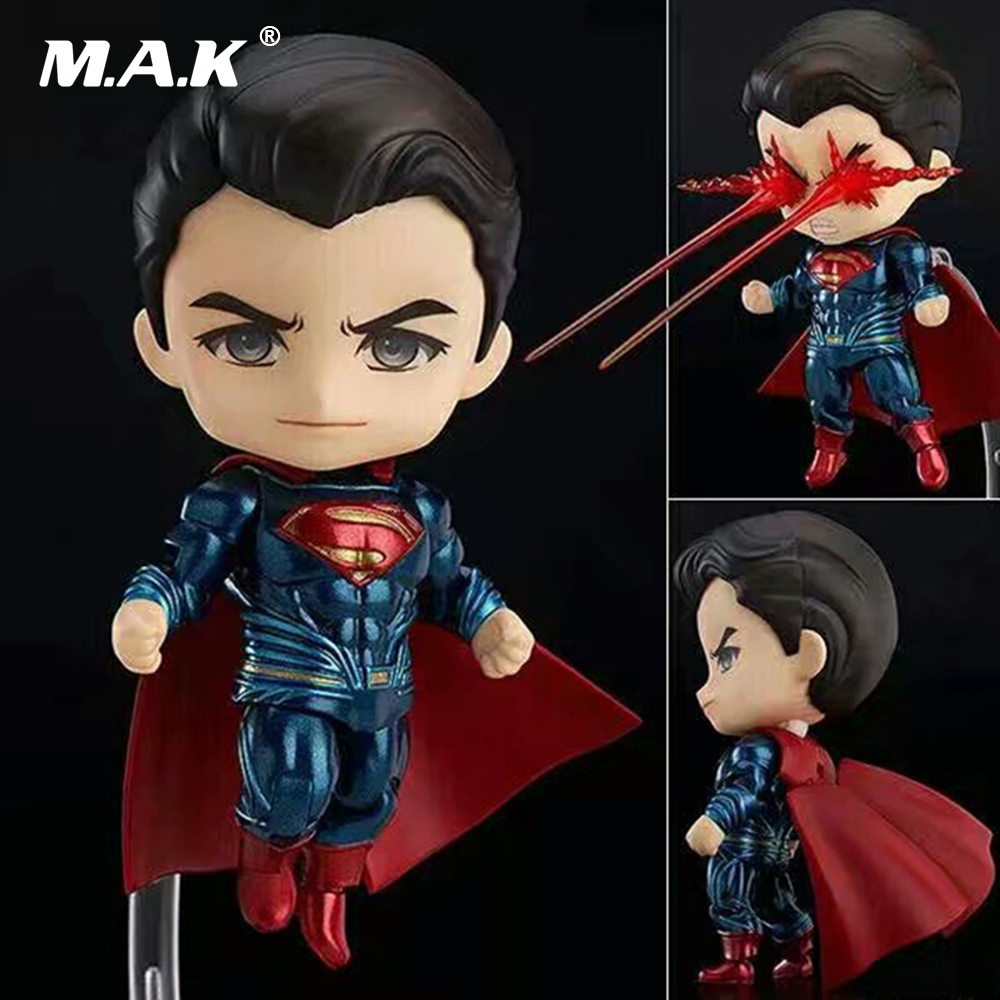 10CM Batman VS Superman Q Version Nendoroid PVC Action Figures Collections Toys Gifts Brinquedos NO 643 captain america civil war iron man 618 q version 10cm nendoroid pvc action figures model collectible toys
