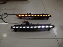 RQXR LED driving light for Audi Q7 with flowing turn signal daytime running lights drl, 2pcs(China)