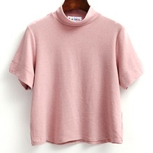 Korean Shirt Women Slim Sexy Tops blouse Solid Small Turtleneck Candy Colored Loose Bottoming Shirts Girls blouse