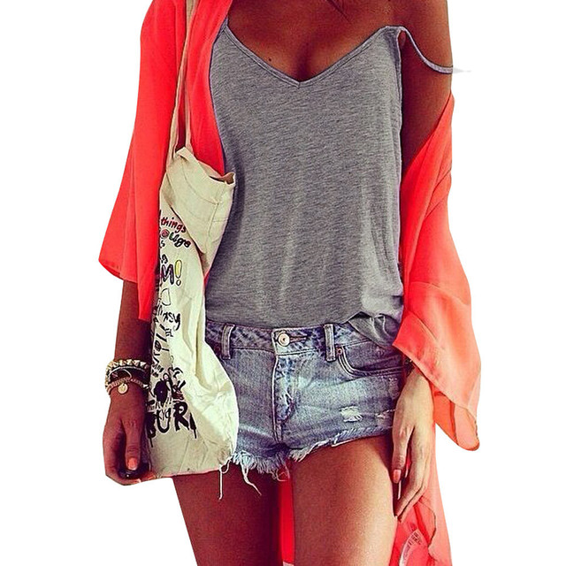 f67a928eebd69 summer tops for women 2018 Women Fashion Sleeveless V-Neck Tank Top Vest  Tops Sleeveless Casual Vintage Ladies Camisole