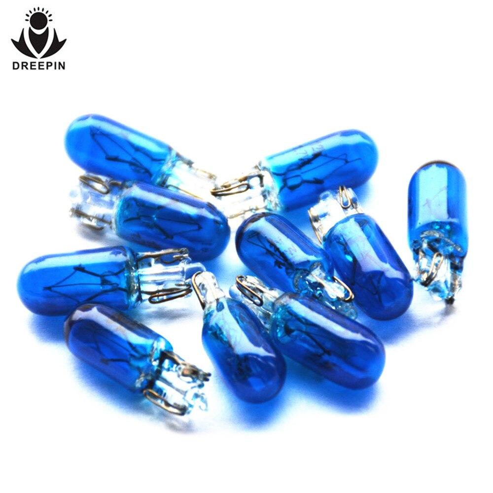Т6 DREEPIN.5 синий/Янтарный/очистить W2W 12В 1,7 Вт Клин авто Лампа багажника освещения галогенная лампа OEM качество груза падения 20PCE