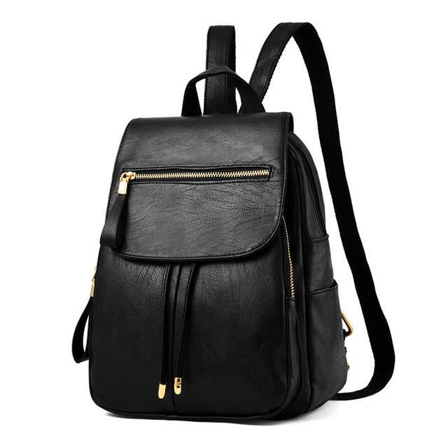 4082c9f00f placeholder Luxury Brand Leather Backpacks Women Large Capacity School Bag  For Teenage Girls Leisure Design School Portfolio