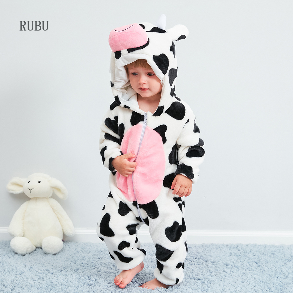 Baby   Rompers   Boy Girl Pajamas New Born Winter Baby Clothes Kigurumi Kids Onesie Animal Pajamas Stitch Jumpsuit ropa bebe Costume