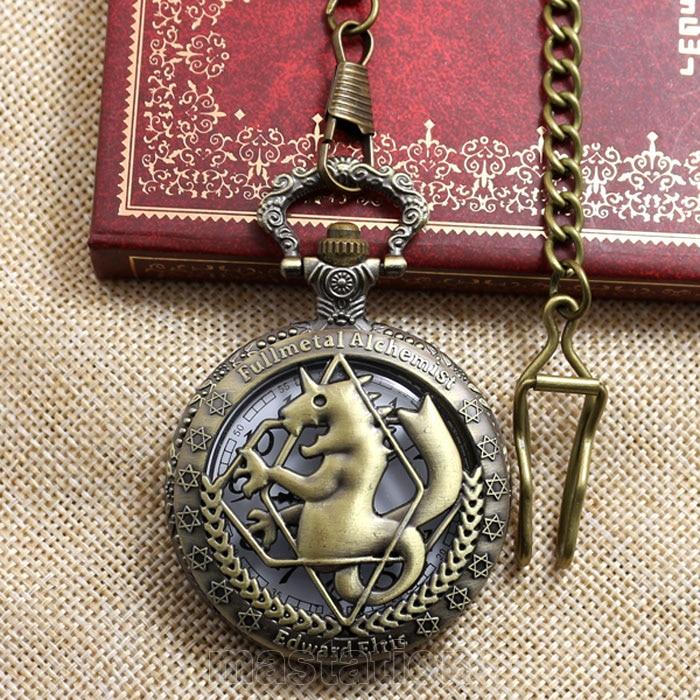 Hot Steampunk Fullmetal Alchemist Bronze Horse Clock Hollow Quartz - Zakhorloge - Foto 2