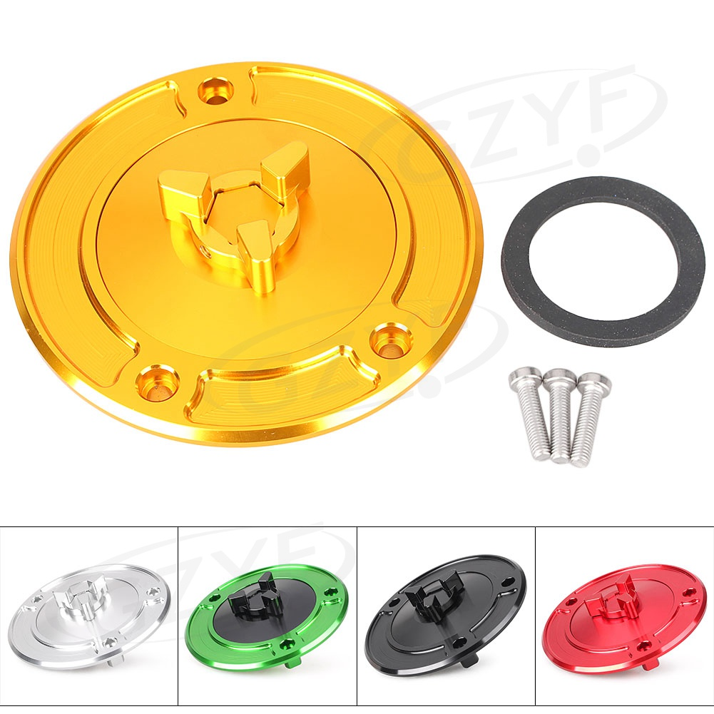 Motorcycle Keyless Fuel Tank Gas Cap Cover for Honda CBR600 F2 F3 F4 F4i /CBR600RR /CBR900RR /CBR929RR /CBR954RR /CBR1000RR etc mp022 universal diy motorcycle decorative fuel tank cap cover golden 2 pcs