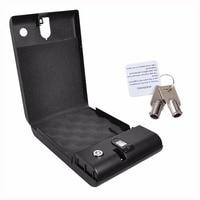 Fingerprint Safe Box Security Fingerprint And Key Lock Safes For Car Household Valuables Jewelry Box Protable