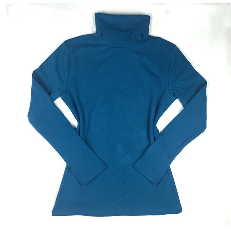 Musim dingin Musim Gugur New Fashion Turtleneck Tops Katun Lengan - Pakaian Wanita - Foto 5
