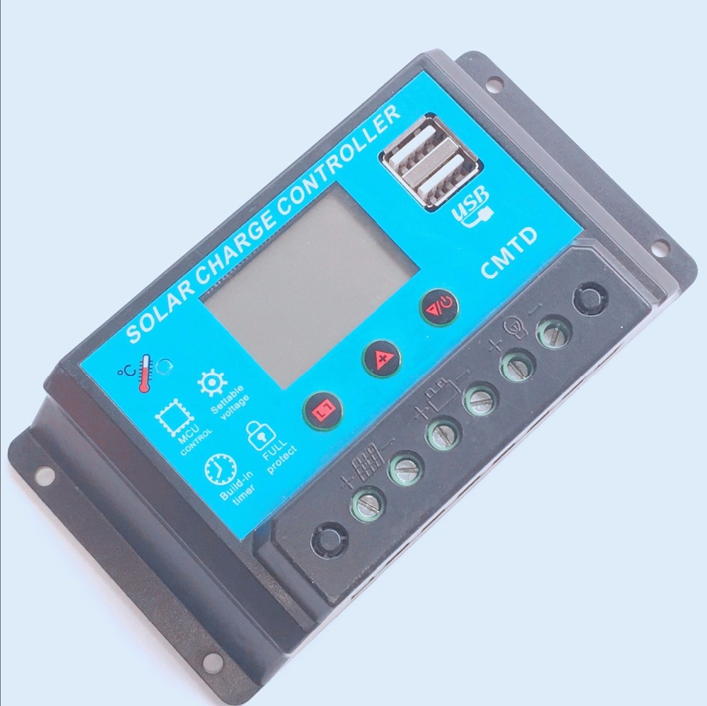 Free Shipping !! 10 Pcs CMTD 12V 24V 10A 20A LCD Display PWM Solar Panel Battery Regulator Charge Controller 1 pcs ramps1 4 lcd 12864 control panel 3d printer smart controller lcd display free shipping drop shipping l101