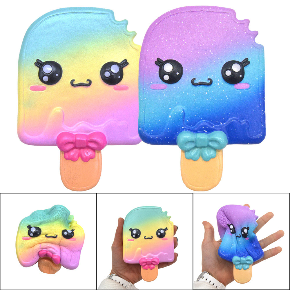 Cute Squishy Toys Stress Reliever Squishy Slow Rising Ice Cream Rainbow Kawaii Squeeze Antistress Ball Funny Cure Gift AP03f