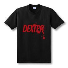2019 New Mens Fashion Summer Cotton Printed Short Sleeve T-shirt DEXTER T shirts Top Tees Size XS-XXL(China)