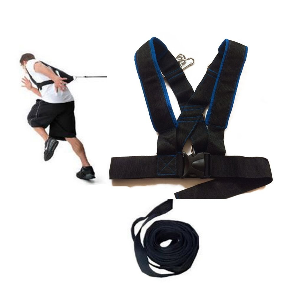 Fitness running training speed sled shoulder harness set