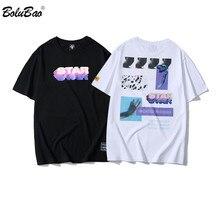BOLUBAO, новинка, мужские футболки, летний бренд,, индивидуальная Мужская футболка с принтом, Мужская трендовая уличная оригинальная стильная футболка
