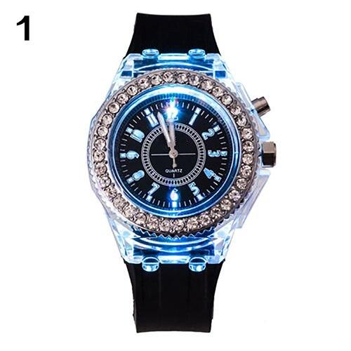 Unisex Geneva Sports Waterproof LED Backlight Silicone Band Quartz Wrist Watch led42r5500fxmz 37022722 35018220 35018002 led backlight 1pcs 48led 472mm