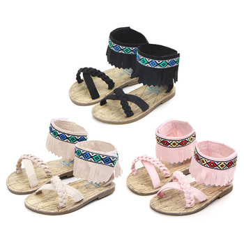 2019 Baby Girl Sandals Summer Baby Girl Hard Bottom Shoes Infant Girl Sandals Newborn Baby Beach Sandals