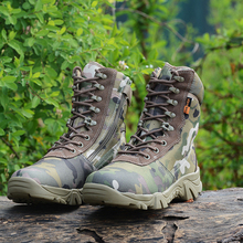 New Men Tactical Boot Army Boots Men's Military Desert Waterproof Work Safety Shoes Climbing Sport Shoes Ankle Men Outdoor Boots все цены