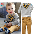 Autumn&Spring Baby boys Clothes Sets o-neck Long Sleeve T-Shirt + Pants 2pcs casual suit  Free Shipping