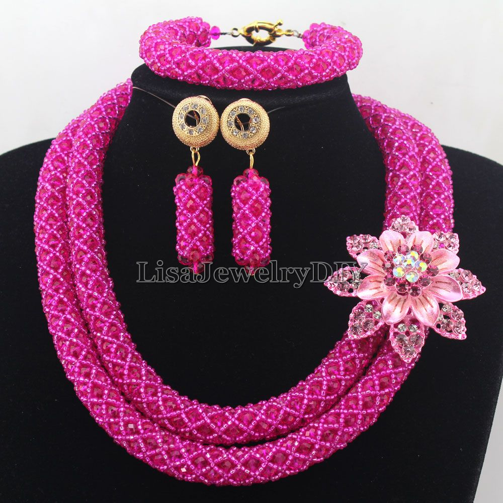 Exclusive Statement Necklace African Beads Jewelry Sets Handmade Wedding Jewelry Set Womens Jewellery Set HD7321Exclusive Statement Necklace African Beads Jewelry Sets Handmade Wedding Jewelry Set Womens Jewellery Set HD7321