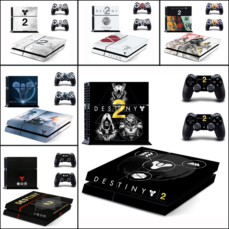 Destiny II Vinyl Cover Decal For PS4 Skin Sticker For Sony PlayStation 4 Console & 2 Controller Skins For PS4 Game Accessories