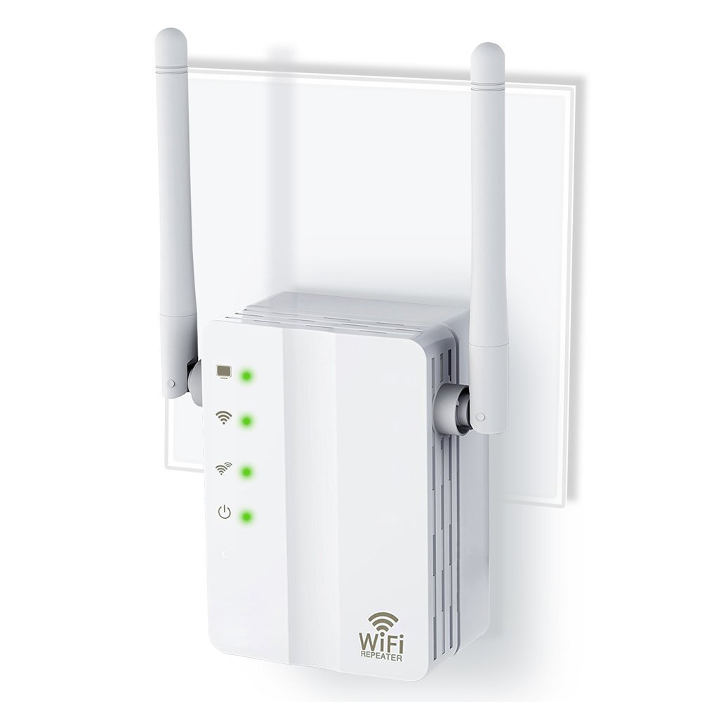 Wireless WiFi Repeater Signal Amplifier 802.11N/B/G 2 Antennas Range Extender 300Mbps Signal Boosters RepetidorWps Encryption