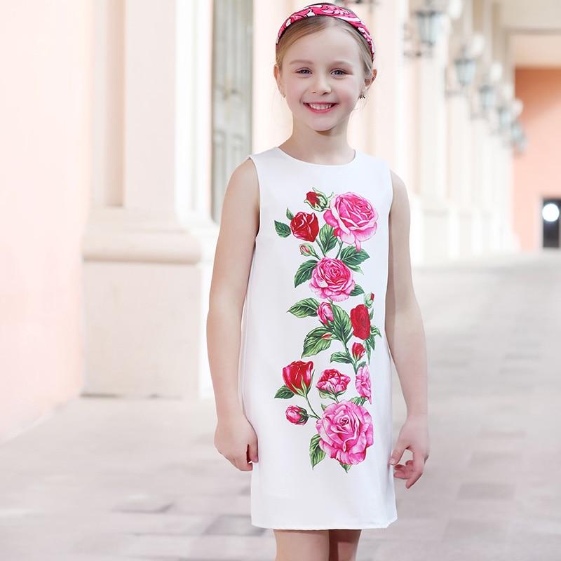 Κορίτσια Καλοκαιρινά Φορέματα Ρούχα - Παιδικά ενδύματα - Φωτογραφία 2