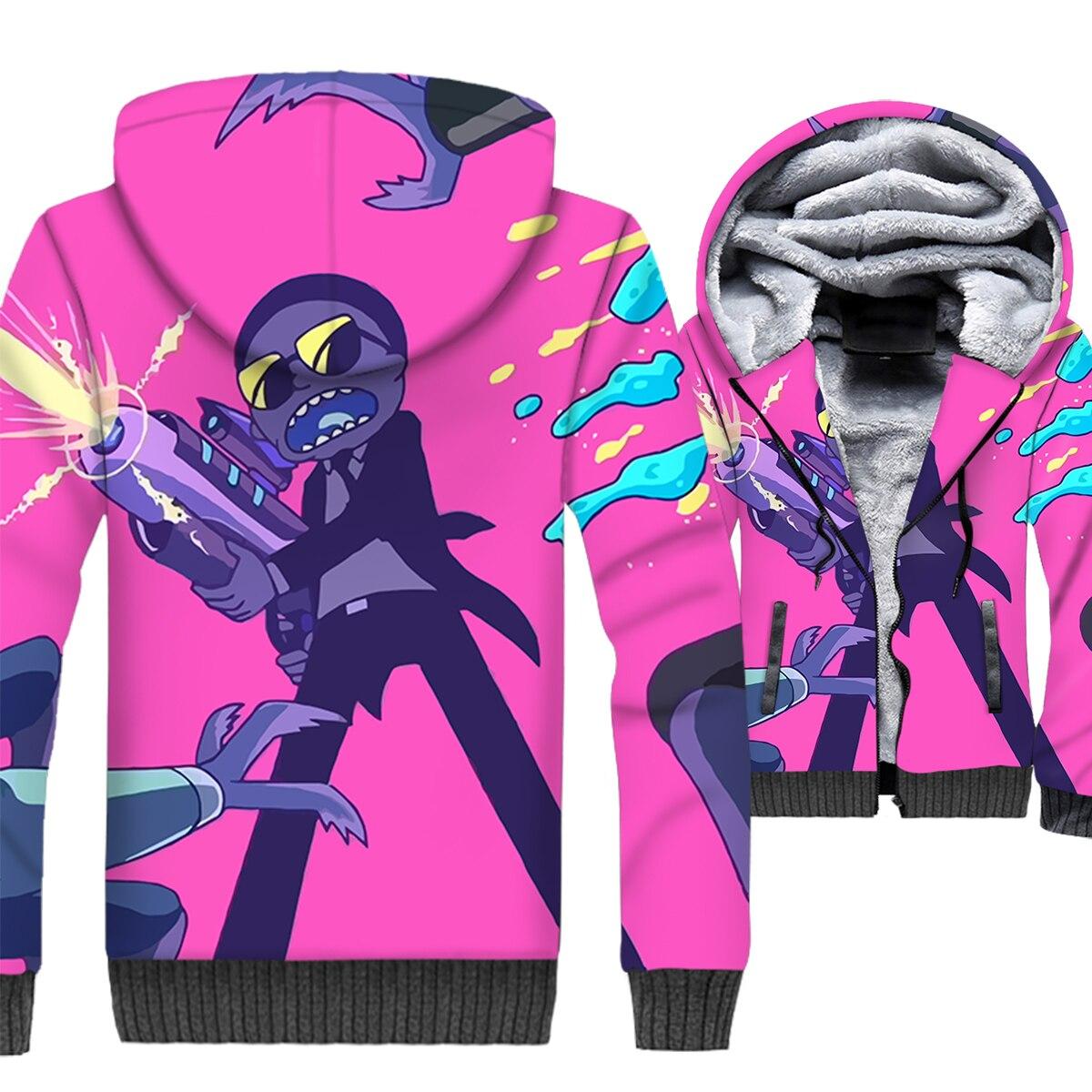 2019 nouveauté offre spéciale veste 3D drôle RICK et MORTY Hip Hop hommes Steetwear marque de mode hommes Sweatshirts survêtement mâle