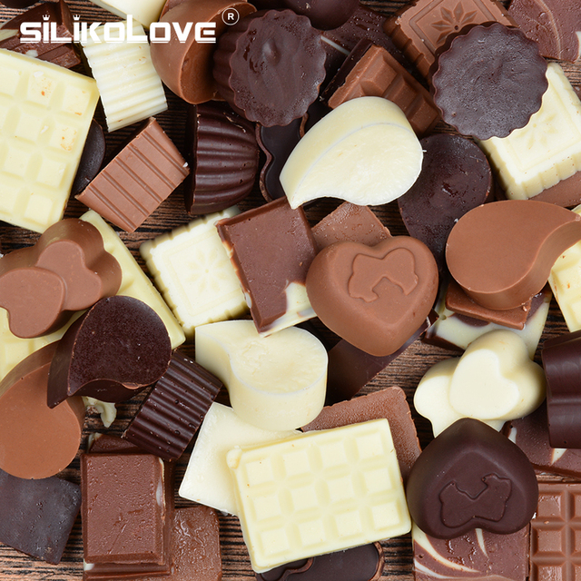 SILIKOLOVE 3D Chocolate Mold Silicone Chocolates Molds for Baking Nonstick Jelly Pudding Sugarcraft Mould DIY Kitchen Bakeware 1