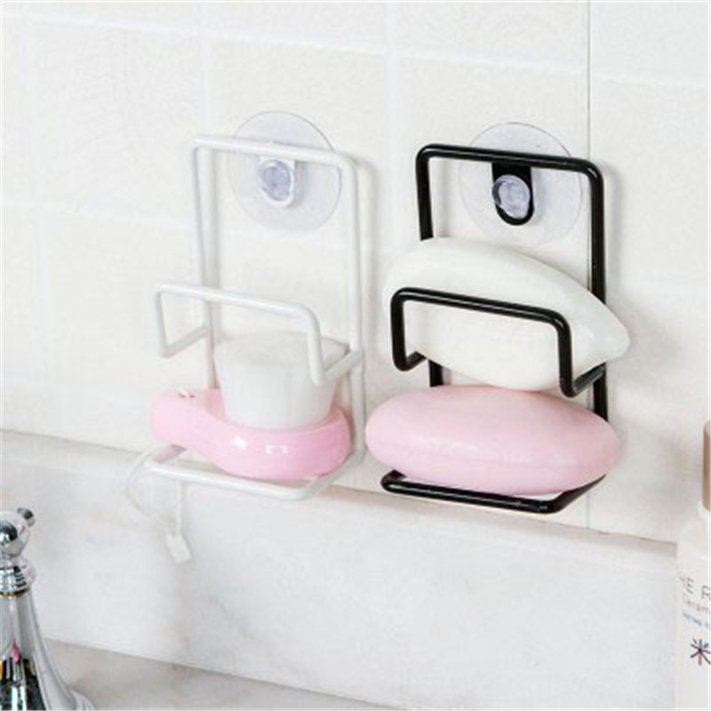 Double Sink Sponge Rack Bathroom Kitchen Metal Racks Holder Shelf Sucker  Storage Rack Basket Sundries Storage Rack In Storage Shelves U0026 Racks From  Home ...