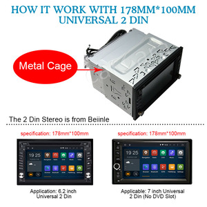 Image 5 - Auto 2 Din 178mm * 100mm Dashboard Universal Installation Montage Rahmen Montage Kit Set Fascia für 6.2 7 Radio Player
