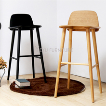Modern Design Solid wooden or Plastic and Metal Bar Stool, fashion design counter stool, Nice Colorful solid wood bar chair 1PC(China)
