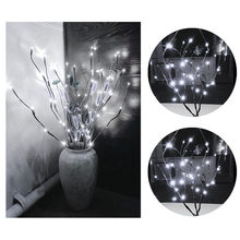 INS LED Willow Branch Lamp Floral Lights 20 Bulbs Home Christmas Party Garden Decor Lamps Lighting Shine Energy Saving Lights(China)