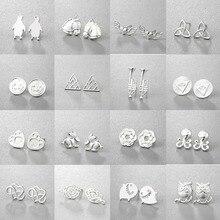 Купить с кэшбэком Todorova Multiple Owl Triangle Stud Earrings Mens Womens Jewellery Minimalist Kids Earrings Gifts for Women oorbellen
