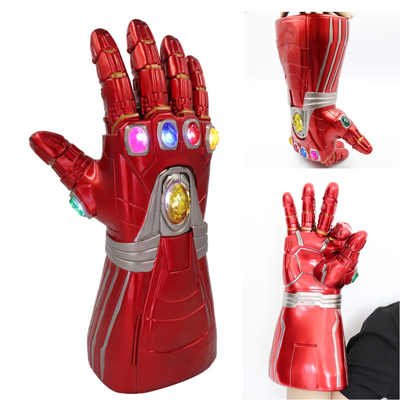 Nouveau Avengers Endgame Marvel super-héros Tony Stark Iron Man Cosplay bras gant Infinity gantelet main droite Thanos gants LED jouet