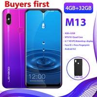 2019 new LEAGOO Android 9.0 19:9 6.1FHD smartphone 4GB RAM 32GB ROM MT6761 Quad Core 4G Waterdrop OTG Mobile Phone PK Y8