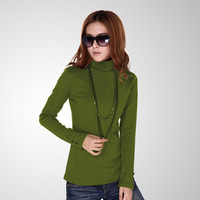 Woman Spring Plus Size Solid Turtleneck Full Button Thicken Sweaters Lady Winter Strech Hedging Warm Cotton