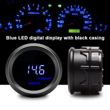 Professional Voltmeter 2 Inch/52MM Car Modification Instrument Blue Digital Volt Tacho 8~18V