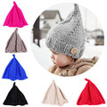 New Steeple Witches Knitted Hat for Girls Boys  Solid Color Baby warm head caps children Bonnet Photo Props R2