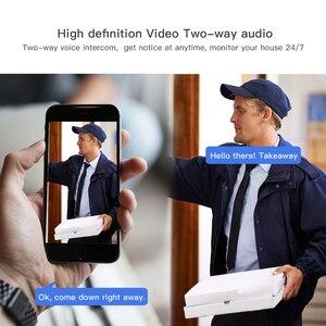 Image 4 - Беспроводной ip беспроводной видеодомофон для видеодомофона, беспроводной дверной звонок, камера ночного видения, PIR сигнализация, камера безопасности Android IOS