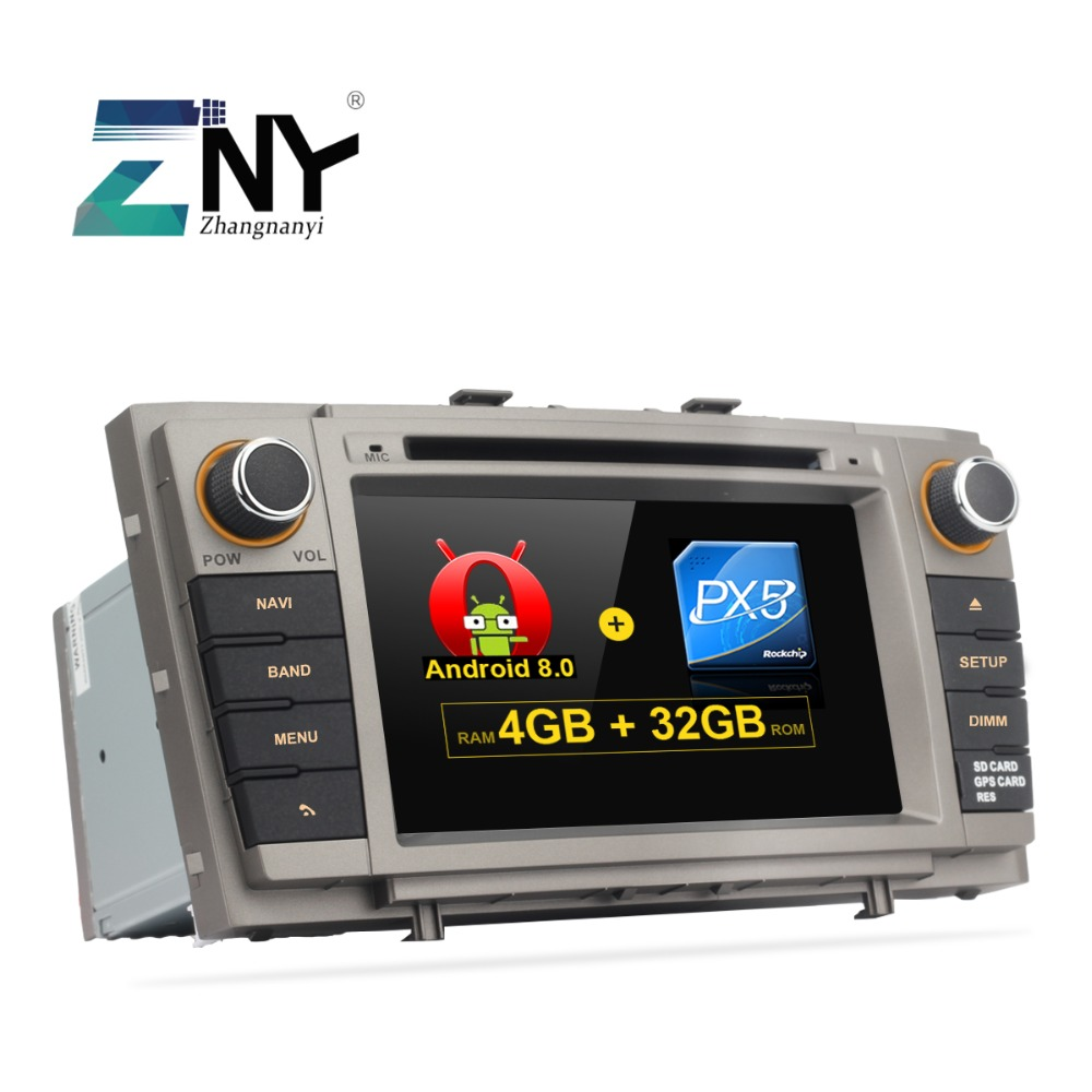 4GB RAM 7 Android 8.0 Car DVD For Toyota Avensis T27 2009 2010 2011 2012 2013 2014 2015 Auto Stereo PC Radio FM GPS Navigation защита картера и кпп автоброня toyota avensis 2009 2011 2011 2012 toyota verso 2009 2011 2011 2012 сталь 2 мм