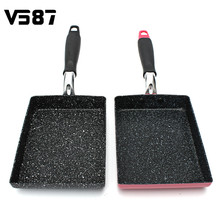 Frying Omelet Fried Eggs Square Pan Aluminum Non-Stick Burning Pan Frying Pan Two Colors Available Cookware