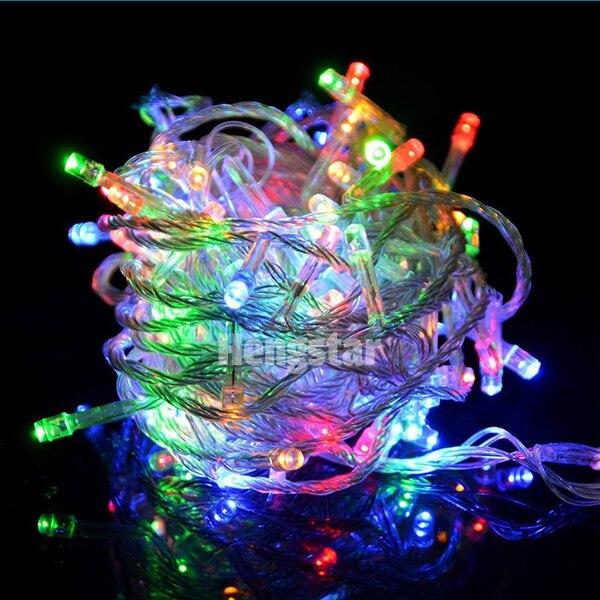 220v UE wtyczka 20m 200led rgb led fairy string światła na święto - Oświetlenie wakacje - Zdjęcie 2