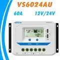 EPEVER 60A Solar Controller 12 V 24 V Auto VS6024AU PWM Laadregelaar met ingebouwde Lcd scherm en Dubbele USB 5 V Poort EPsolar