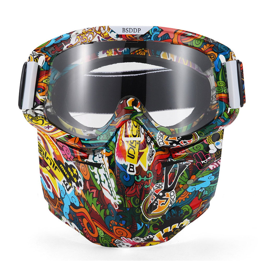 Новый Мото-маска ОЧКИ Мотокросс Мотоцикл Лыжный Спорт модульная маска Moto 0908 шлем Очки для открытого Уход за кожей лица шлем