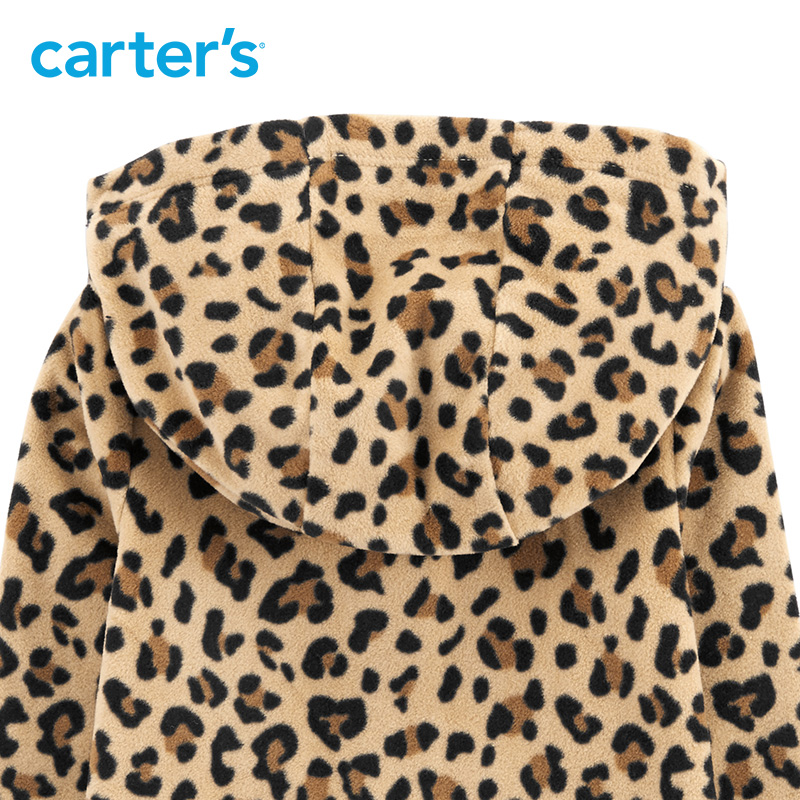 638be92f69 Carters Baby Boy Rompers Cheetah Hooded Fleece Jumpsuit Leopard print long  sleeve hooded baby girl jumpsuit 118I725-in Rompers from Mother   Kids on  ...