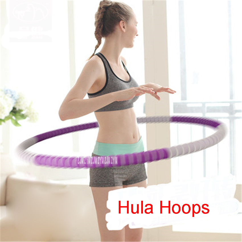 PJ-2790 Entertainment Tools 82cm Portable Fitness Removable Weight Loss Hard Pipe Equipment Waist Slimming Hula Hoops 4 Colors