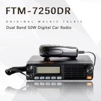 Новые продукты Yaesu FTM-7250DR автомобиля двухдиапазонный цифровой радио автомобиля радио 50 Вт Высокая производительный приемопередатчик